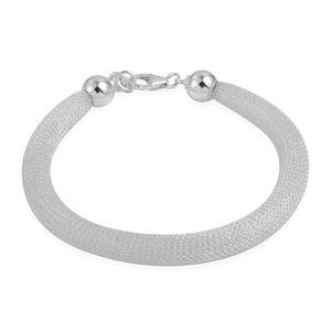 Sterling Silver Mesh Bracelet (8 In, 4.9 g)