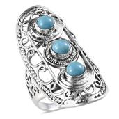 Arizona Sleeping Beauty Turquoise Sterling Silver Ring (Size 9.0) TGW 2.950 cts.