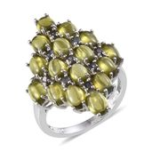 Vesuvianite, Bekily Color Change Garnet Platinum Over Sterling Silver Ring (Size 5.0) TGW 8.800 cts.