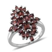 Umba River Zircon Platinum Over Sterling Silver Ring (Size 6.0) TGW 5.800 cts.