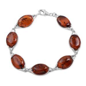 Baltic Amber Sterling Silver Bracelet (7.00 In)