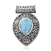 Tribal Collection of India Larimar Sterling Silver Pendant without Chain TGW 11.850 cts.