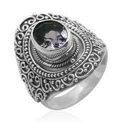 Bali Legacy Collection Amethyst Sterling Silver Ring (Size 8.0) TGW 2.500 cts.