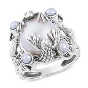 Pearl Expressions Freshwater Pearl Sterling Silver Ring (Size 9.0)