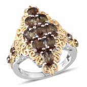 Jenipapo Andalusite 14K YG and Platinum Over Sterling Silver Ring (Size 10.0) Cts TGW 4.280 cts.