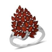 Jalisco Cherry Fire Opal Platinum Over Sterling Silver Ring (Size 5.0) TGW 2.00 cts.