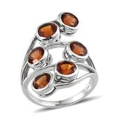 Santa Ana Madeira Citrine Platinum Over Sterling Silver Ring (Size 7.0) TGW 4.440 cts.