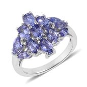 Tanzanite Sterling Silver Ring (Size 7.0) TGW 2.000 cts.