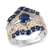 Himalayan Kyanite 14K YG and Platinum Over Sterling Silver Ring (Size 7.0) TGW 3.150 cts.