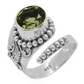 Bali Legacy Collection Brazilian Citrine Sterling Silver Adjustable Ring (Size 7.0) TGW 3.220 cts.