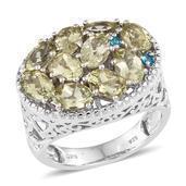 Canary Apatite, Malgache Neon Apatite Platinum Over Sterling Silver Ring (Size 8.0) TGW 4.900 cts.
