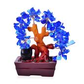 Blue Glass, Chroma Decorative Tree (4 in)