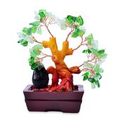 Green Glass, Chroma Decorative Tree (4 in)