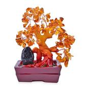 Orange Glass, Chroma Decorative Tree (4 in)