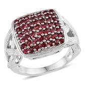 Mahenge Rose Spinel Platinum Over Sterling Silver Ring (Size 8.0) TGW 2.37 cts.
