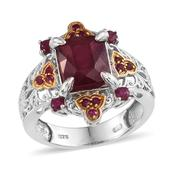 Niassa Ruby, Ruby 14K YG and Platinum Over Sterling Silver Ring (Size 9.0) TGW 7.80 cts.