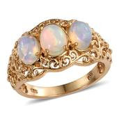 Ethiopian Welo Opal 14K YG Over Sterling Silver Ring (Size 7.0) TGW 2.260 cts.