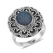 Artisan Crafted Australian Boulder Opal Sterling Silver Ring (Size 8.0) TGW 1.820 cts.