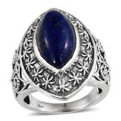 Lapis Lazuli Sterling Silver Ring (Size 7.0) TGW 8.34 cts.