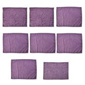 Set of 7 Purple Microfiber Paisley Damask Print  Dish Towels and 1 Drying Mat