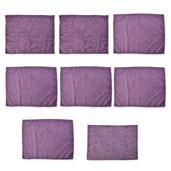 Set of 7 Purple Microfiber Paisley Damask Print  Dish Towels and 1 Drying Mat