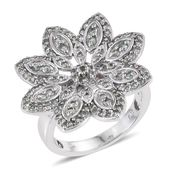 Narsipatnam Alexandrite Platinum Over Sterling Silver Flower Ring (Size 6.0) TGW 1.51 cts.