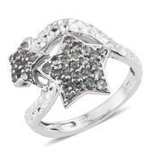 Narsipatnam Alexandrite Platinum Over Sterling Silver Star Bypass Ring (Size 8.0) TGW 0.800 cts.