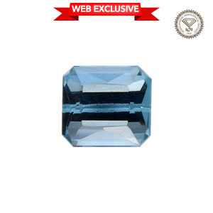 IGI Certified Santamaria Aquamarine Faceted (Oct 4A 7.99x7.42) TGW 2.25 Cts.
