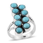 Artisan Crafted Arizona Sleeping Beauty Turquoise Sterling Silver Ring (Size 7.0) TGW 4.120 cts.