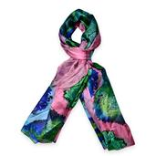 J Francis - Multi Color 100% Natural Mulberry Silk Scarf (71x43 in)