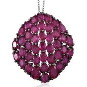 Niassa Ruby 14K YG and Platinum Over Sterling Silver Pendant With Chain (20 in) TGW 11.50 cts.