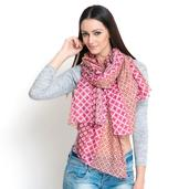 J Francis - Marsala 100% Cotton Scarf (70x39 in)