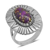 Bali Legacy Collection Mojave Purple Turquoise Sterling Silver Ring (Size 8.0) TGW 5.350 cts.