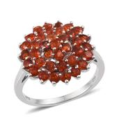 Jalisco Fire Opal Platinum Over Sterling Silver Ring (Size 7.0) TGW 1.850 cts.