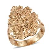 Nature's D'Or Oak Dipped in 24K YG Leaf Ring (Size 9.0)