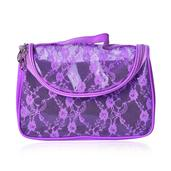 Lavender Floral Lace Multi Purpose Bag (9x4x6 in)