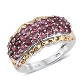 Pink Tourmaline 14K YG and Platinum Over Sterling Silver Openwork Ring (Size 7.0) TGW 2.360 cts.