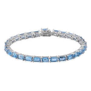 Swiss Blue Topaz Sterling Silver Bracelet (7.25 In) TGW 18.75 cts.