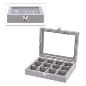 Gray Jewelry Organizer (8x6x2 in)