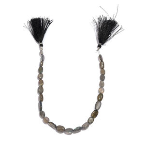 LC DIY Malagasy Labradorite Beads String with Tassel Ends TGW 70.000 cts.