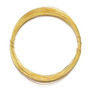 Gem Workshop Goldtone Wire (Approx 10 mtr, 0.06 mm)