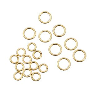 Gem Workshop Set of 200 Goldtone Jump Rings