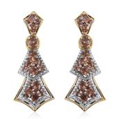 Jenipapo Andalusite 14K YG and Platinum Over Sterling Silver Earrings TGW 4.155 Cts.