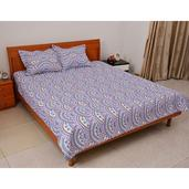 Set of 2 Multi Color Microfiber Quilt and Shams (King)