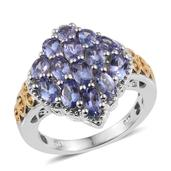 Tanzanite 14K YG and Platinum Over Sterling Silver Ring (Size 6.0) TGW 3.450 cts.