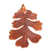 Nature's D'Or Oak Leaf Dipped in Red Copper Pendant without Chain