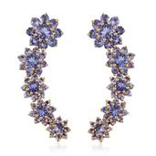 Tanzanite 14K YG Over Sterling Silver Drop Earrings TGW 5.44 cts.
