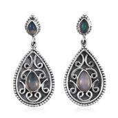 Ethiopian Welo Opal Sterling Silver Dangle Earrings TGW 2.50 cts.