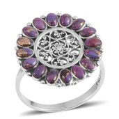 Santa Fe Style Mojave Purple Turquoise Sterling Silver Ring (Size 8.0) TGW 2.100 cts.