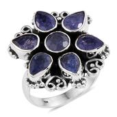 Artisan Crafted Tanzanite Sterling Silver Ring (Size 6.0) TGW 5.650 cts.
